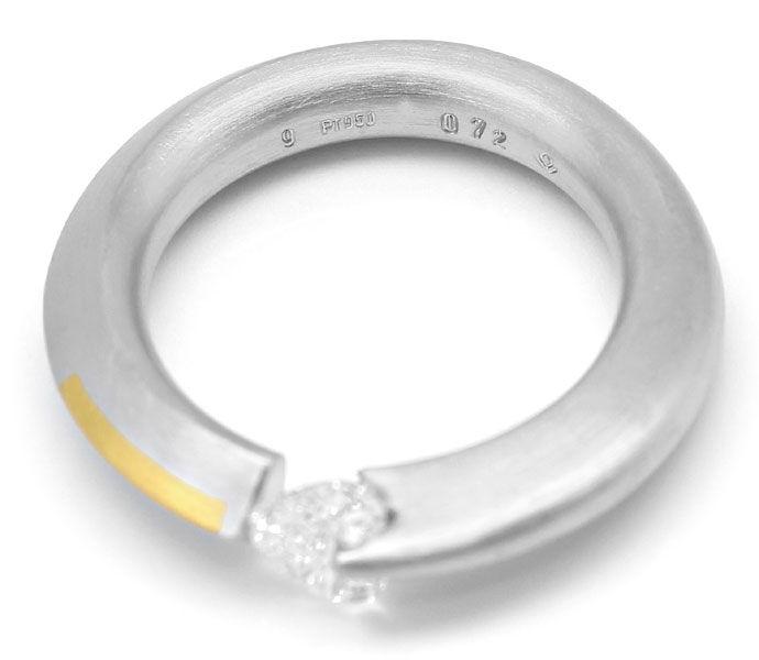 Foto 3 - Bunz Ring 0,72ct River D lupenrein Herz Diamant, Platin, R3630