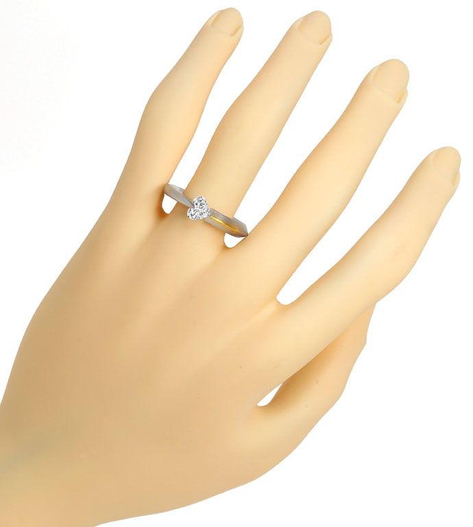 Foto 5 - Bunz Ring 0,72ct River D lupenrein Herz Diamant, Platin, R3630