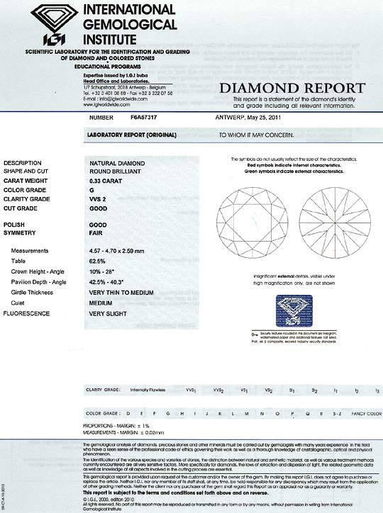 Foto 9 - Brilliant Spannring 0,33 ct IGI Expertise 18K Weissgold, R3650