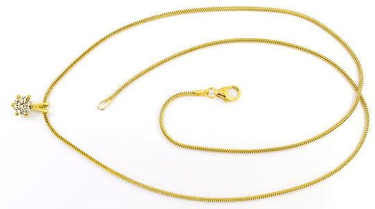 Foto 1 - 0,64ct Brilliant Kollier Gold Braun Champagner Gelbgold, R3680