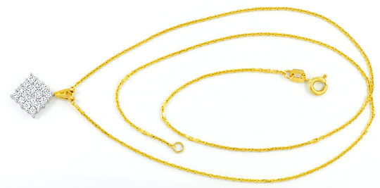 Foto 1 - Brillant Diamant Gold Kollier 16 Strahlende Brillianten, R3682