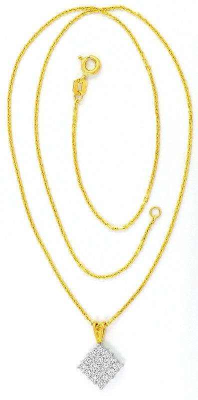 Foto 3 - Brillant Diamant Gold Kollier 16 Strahlende Brillianten, R3682