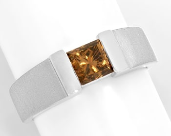 Foto 1, Diamantring 1,09 Princess Fancy Intense Yellowish Bronw, R3683