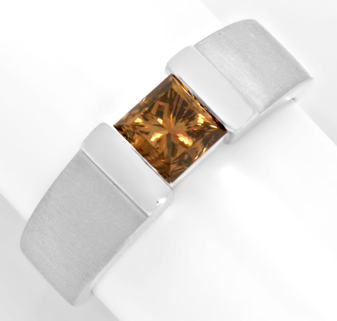 Foto 2, Diamantring 1,09 Princess Fancy Intense Yellowish Bronw, R3683