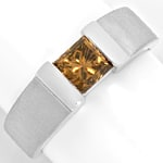 Diamantring 1,09 Princess Fancy Intense Yellowish Bronw