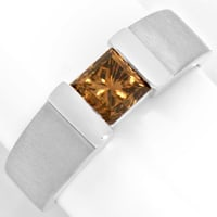 zum Artikel Diamantring 1,09 Princess Fancy Intense Yellowish Bronw, R3683