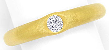 Foto 1, Niessing Diamantring lupenreiner 0,21ct Brillant in 18K, R3704