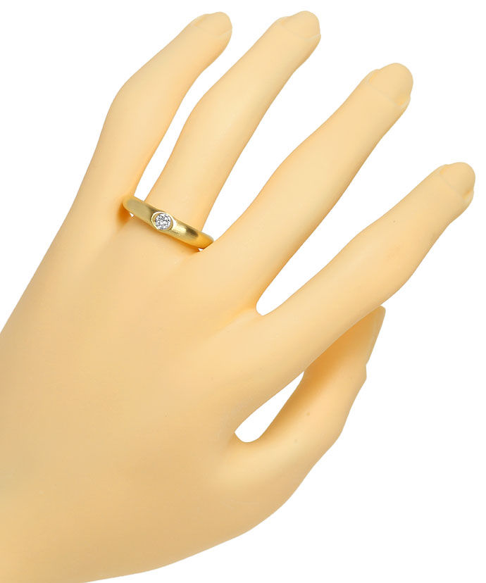 Foto 4, Niessing Diamantring lupenreiner 0,21ct Brillant in 18K, R3704