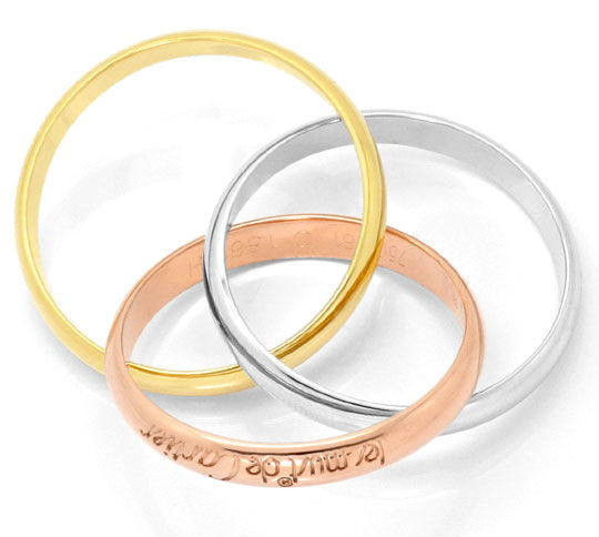 Foto 3 - Les must de Cartier Trinity Tricolor Goldring Grösse 58, R3750