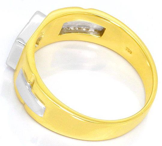Foto 3 - Herren Siegel Brilliant Ring 18K/750 Gelbgold Weissgold, R3767