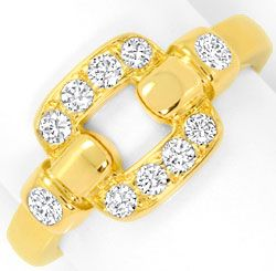Foto 2, Cartier Set Ring Ohrringe Nymphea, Brillanten, Gelbgold, R3843