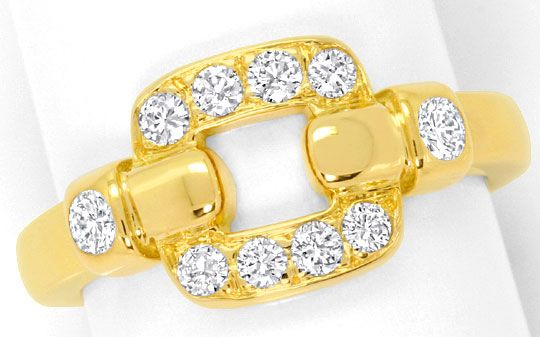 Foto 3, Cartier Set Ring Ohrringe Nymphea, Brillanten, Gelbgold, R3843