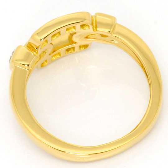 Foto 4, Cartier Set Ring Ohrringe Nymphea, Brillanten, Gelbgold, R3843