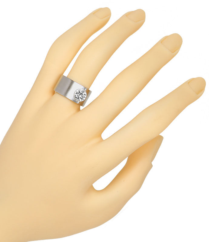 Foto 4, Niessing Solitaire Brilliantring 1ct F Lupenrein Platin, R3903