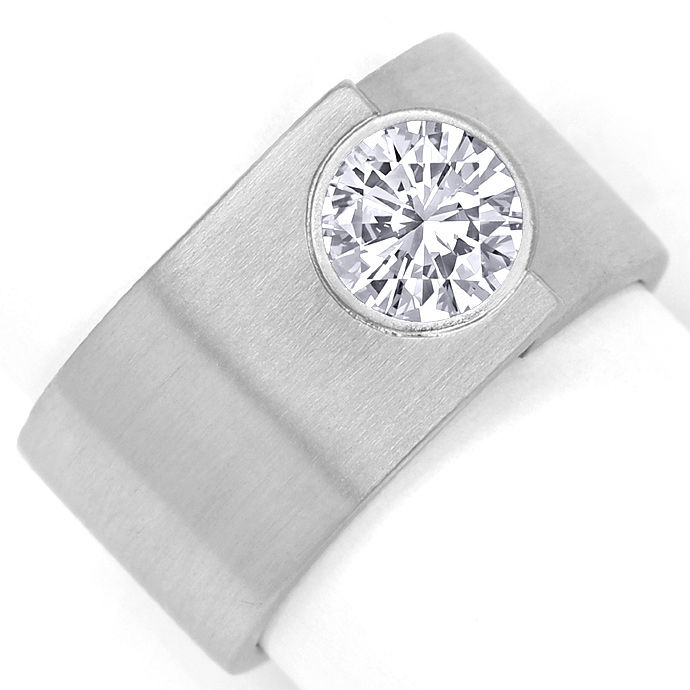 Niessing Solitaire Brilliantring 1ct F Lupenrein Platin, Designer Ring