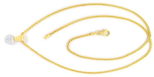 Foto 1 - Brillant Kollier, Zopf Halskette Clip Anhänger 14K Gold, R3984