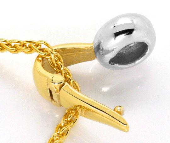 Foto 3 - Brillant Kollier, Zopf Halskette Clip Anhänger 14K Gold, R3984