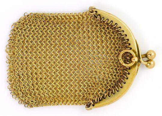 Foto 1 - antiker Gold Geld Beutel, 14K Gelbgold, Spitzen Zustand, R4138