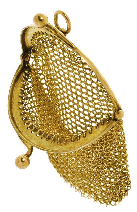 Foto 2 - antiker Gold Geld Beutel, 14K Gelbgold, Spitzen Zustand, R4138