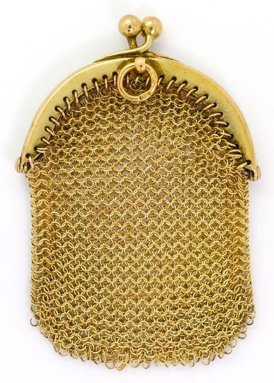 Foto 3 - antiker Gold Geld Beutel, 14K Gelbgold, Spitzen Zustand, R4138