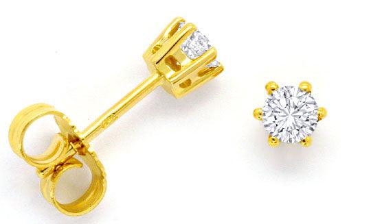 Foto 1 - Paar Diamant Ohrringe Brillant Solitäre 0,40ct 18K Gold, R4145