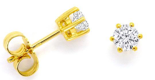 Foto 1 - Paar Brillanten Krappen Ohrstecker 0,60 ct 18K Gelbgold, R4147
