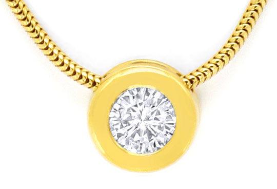 Foto 2 - Diamantkollier Halbkaräter Brillantsolitär 18K Gelbgold, R4157