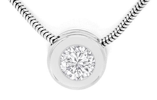 Foto 2 - Diamant Kollier 0,57ct Brillant Zargenfassung Weissgold, R4159