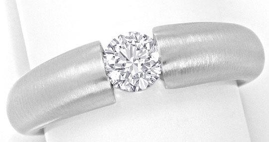 Foto 2 - Diamantspannring Halbkaräter 0,52 River D 18K Weissgold, R4176
