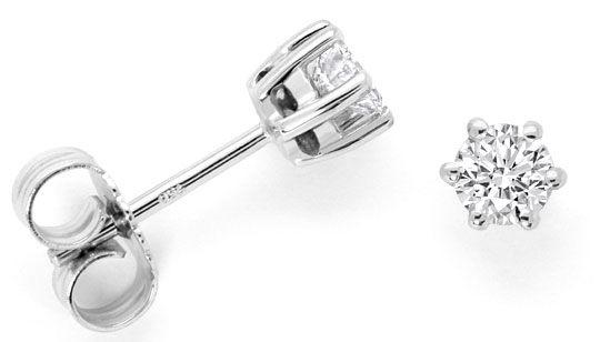 Foto 1 - Diamant Ohrringe 0,52ct Brillanten Ohrstecker Weissgold, R4180