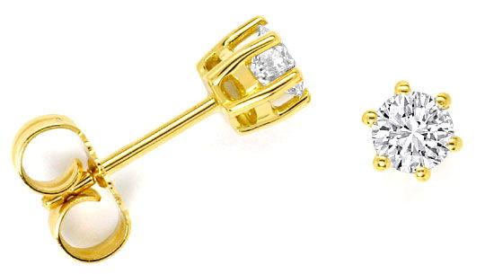 Foto 1 - Brillanten Diamanten Ohrstecker 0,50 Carat 18K Gelbgold, R4182