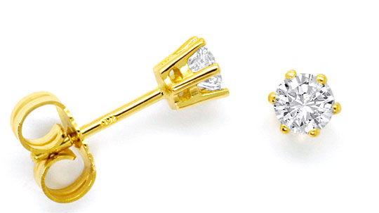 Foto 1 - Diamant Ohrringe 0,48ct Brillianten Ohrstecker Gelbgold, R4203