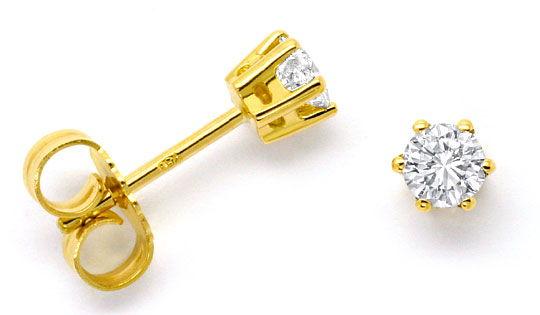 Foto 1 - Diamantohrringe 0,44 Brillanten Ohrstecker 18K Gelbgold, R4204