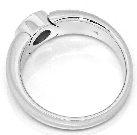 Foto 3, Brillant Bandring 0,38ct River Lupenrein 18K Weiss Gold, R4283