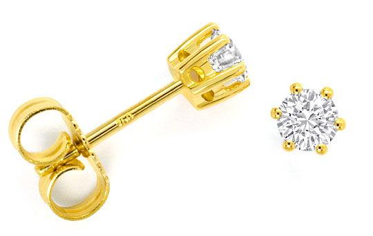 Foto 1 - Diamant Solitär Ohrringe 0,40ct Brillant Ohrstecker 18K, R4292
