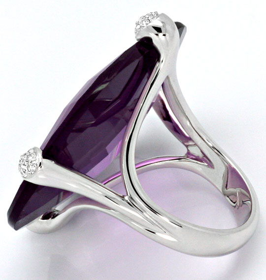 Foto 4, 55ct Amethyst Sensations Brillianten Ring 18K Weissgold, R4351