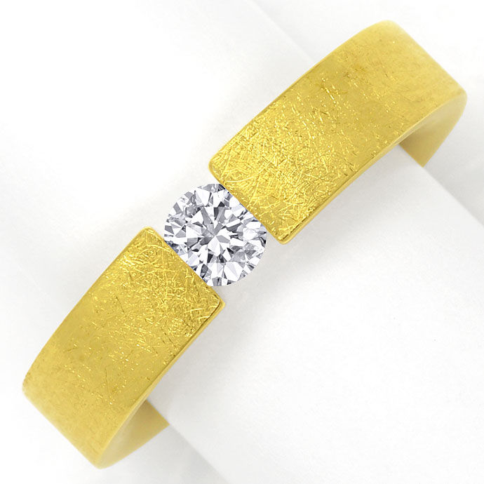 Foto 2, Niessing Brilliant Spannring FLACH mit 0,38ct, 18K Gold, R4479