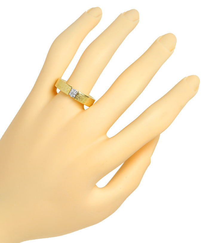 Foto 4, Niessing Brilliant Spannring FLACH mit 0,38ct, 18K Gold, R4479