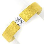 Niessing Brilliant Spannring FLACH mit 0,38ct, 18K Gold