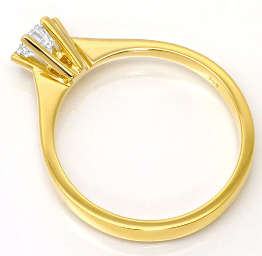 Foto 3, Brillant Krappen Gold Ring Solitär 0,39ct Top Wesselton, R4606