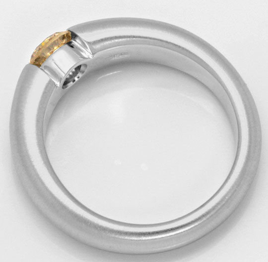 Foto 3, Weissgold-Spannring mit Brillant 0,71ct Fancy Goldbraun, R4739
