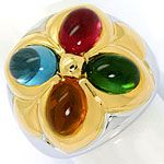 Bulgari Ring Petalo Colour Gemstones Gelbgold Weissgold