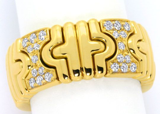 Foto 2, Bulgari Parentesi Classic Brillianten Ring 18K Gelbgold, R4791