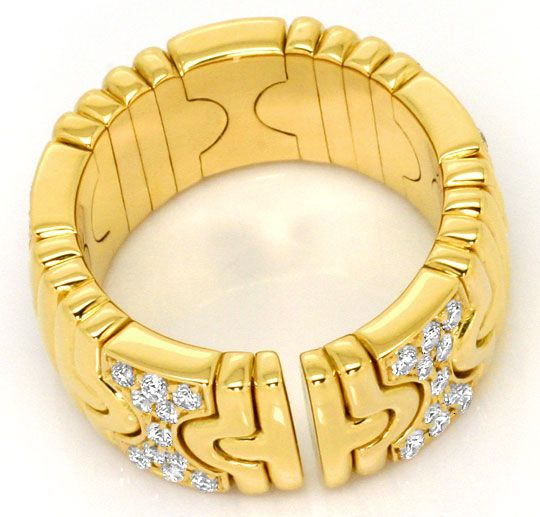 Foto 4, Bulgari Parentesi Classic Brillianten Ring 18K Gelbgold, R4791