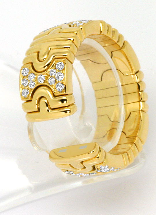 Foto 5, Bulgari Parentesi Classic Brillianten Ring 18K Gelbgold, R4791
