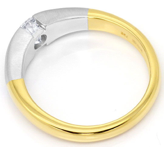 Foto 3, Design Brillant Spannring 0,71ct Top Wesselton 18K Gold, R4819