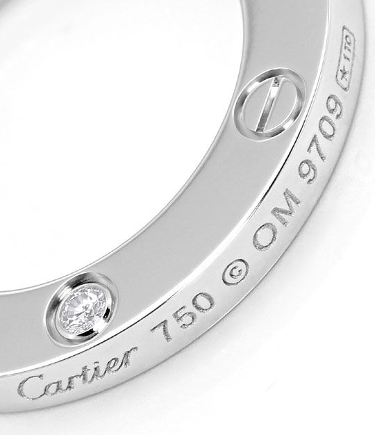 Foto 4, Original Cartier Love Collier mit Brillianten Weissgold, R4845