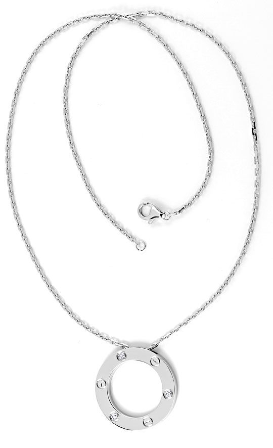 Foto 5 - Original Cartier Love Collier mit Brillianten Weissgold, R4845