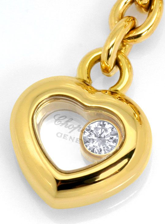 Foto 2, Chopard Happy Diamonds Ohr Brillant Rubin Safir Smaragd, R4921