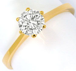 Foto 1, Brillant Ring 0,60ct Lupenreiner Solitaer IGI Expertise, R5098